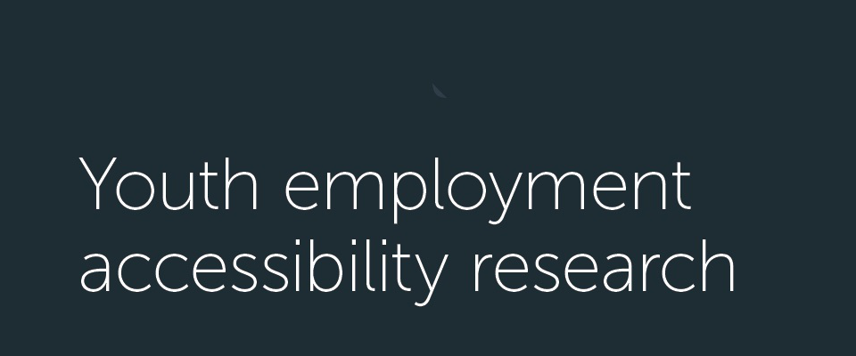 Youth employment accessibility research – full report image