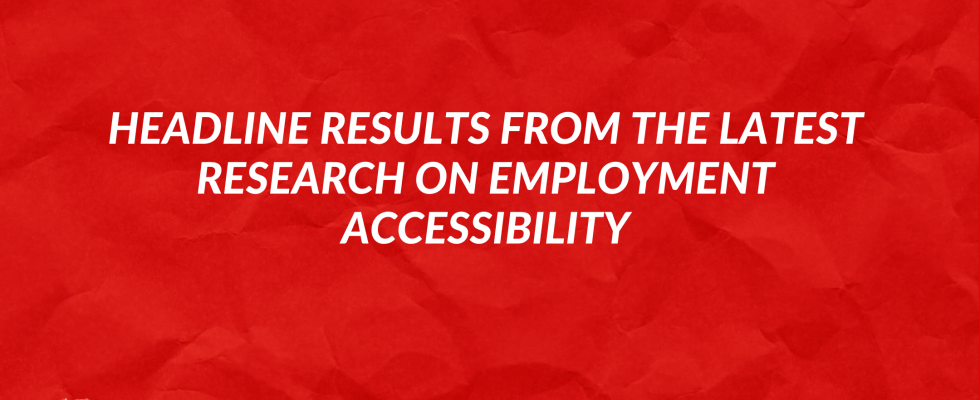Headline results from the latest research on employment accessibility image