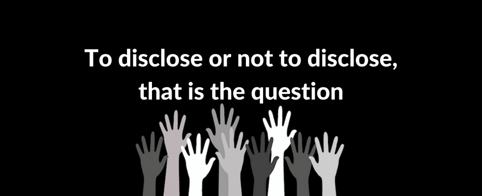 To Disclose or Not to Disclose, that is the question image