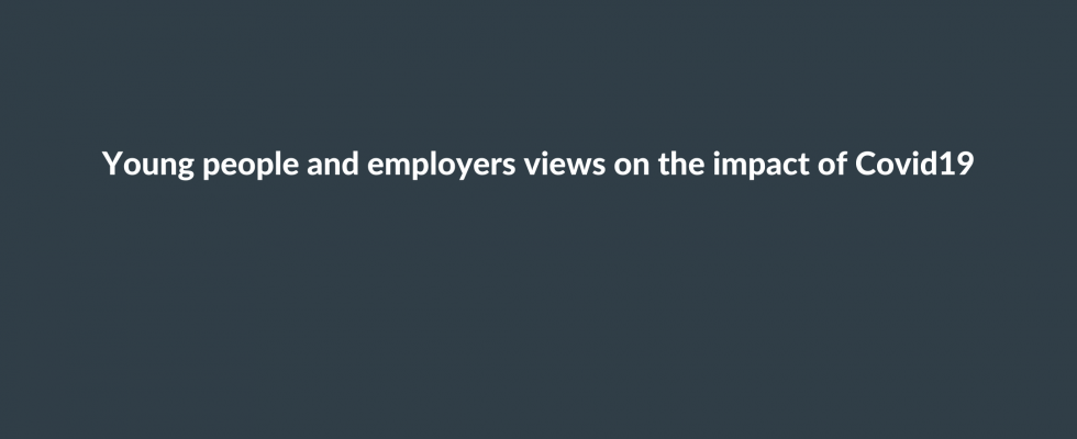 Young people and employer views on the impact of Covid19 image